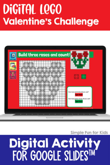 Ten fun and engagin EDITABLE Valentine's-themed digital LEGO challenges for Google Slides and Google Classroom. Students can practice skills such as copying & pasting, dragging & dropping, typing in text boxes, and counting in a super-engaging way.