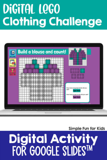 Ten fun and engaging EDITABLE clothing-themed digital LEGO challenges for distance learning with Google Slides and Google Classroom. Students can practice skills such as copying & pasting, dragging & dropping, typing in text boxes, and counting in a super-engaging way.
