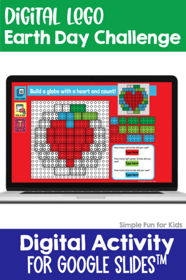 Ten fun and engaging EDITABLE Earth Day-themed digital LEGO challenges for distance learning with Google Slides and Google Classroom. Students can practice skills such as copying & pasting, dragging & dropping, typing in text boxes, and counting in a super-engaging way.